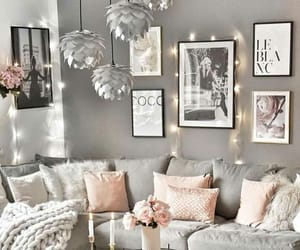 decorations, frames, and living room image