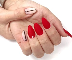 matte, nails, and red image