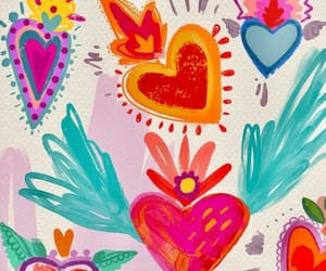 wallpaper, colors, and heart image