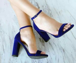 blue shoes, shoes lovers, and fashion shoes image