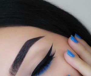 makeup, blue, and nails image
