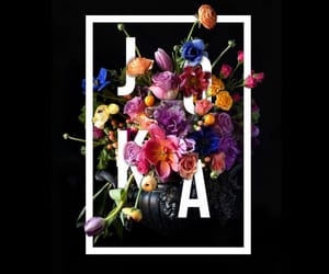 black, flowers, and nickname image