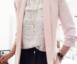 blazer, blouse, and office image