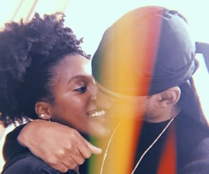 couples, kiss, and black love image