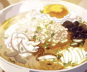 noodles, anime, and food image