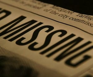 missing, newspaper, and aesthetic image