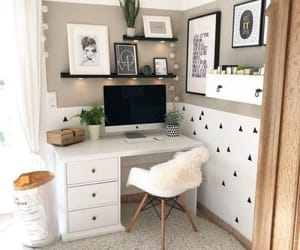 desk, ideas, and room image