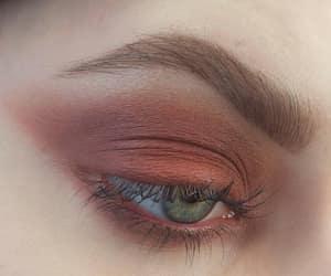 eye, макияж, and green image