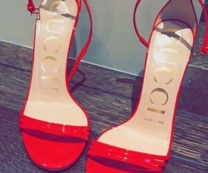 gucci, red, and shoes image