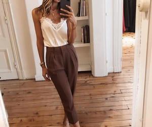 Blanc, fashion, and brown image