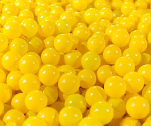 yellow, ball, and pattern image