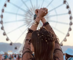 coachella, girl, and glitter image