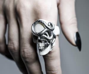 black, hand, and jewelry image