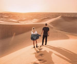 couple, desert, and couple goals image