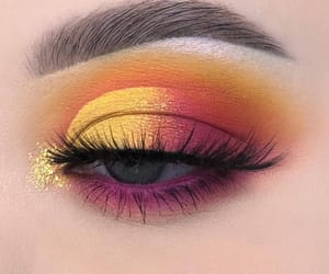 makeup, beauty, and eye makeup image