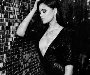black, black and white, and dress image