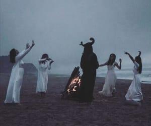 witch, dark, and satan image