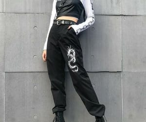 alternative, black, and crop top image