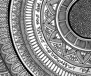 black and white and mandalas image