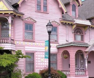 home, house, and pink image