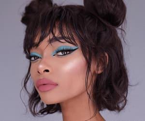beautiful, brownhair, and eyeliner image