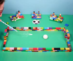 lego, straw, and ping pong ball image