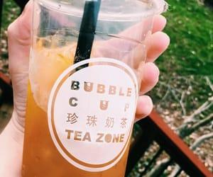 bubble, mango, and tea image