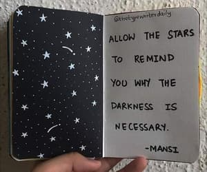 Darkness, don't give up, and inspirational image