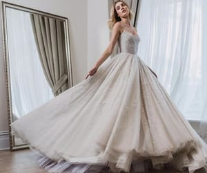 dress, princess, and white image