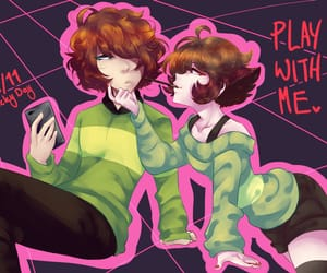kris, chara, and deltarune image