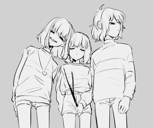 kris, chara, and frisk image