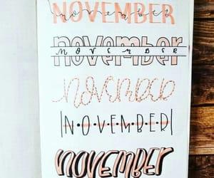 lettering, november, and bujo image