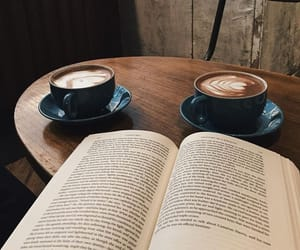 books, reading, and cafe image
