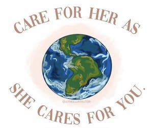 care, earth, and earth day image