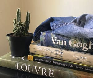books, van gogh, and aesthetic image