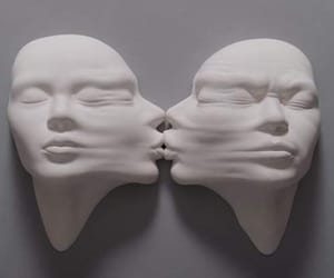 art, kiss, and face image