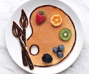 breakfast, art, and food image