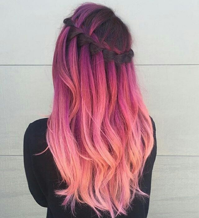 Hair Hairstyles Ombre Pink Pink Hair On We Heart It