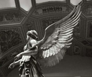 angel, art, and black and white image