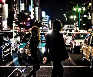 city, couple, and light image