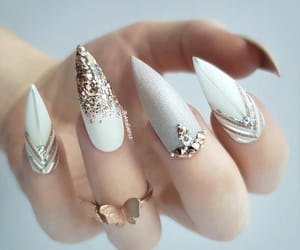 nail art, nails, and ring image