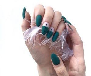 nails, green, and long image