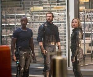 black widow, captain america, and chris evans image
