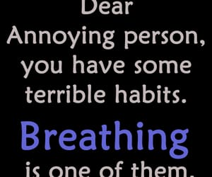 breathing, funny, and quotes image