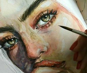art, portrait, and painting image