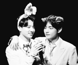 black and white, taehyung, and boy image