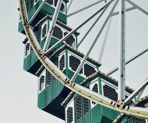 green, aesthetic, and ferris wheel image