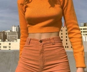 orange, aesthetic, and outfit image