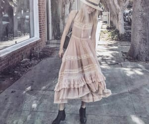 blonde, boho, and dress image
