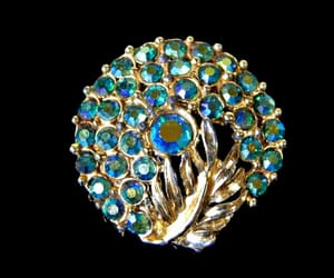 1960s, peacock blue, and gold tone image